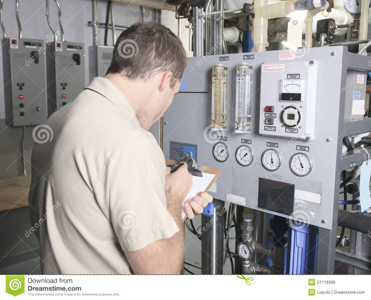 Air Conditioner Repair Man At Work Stock Photo Image: 51119289 #81674A