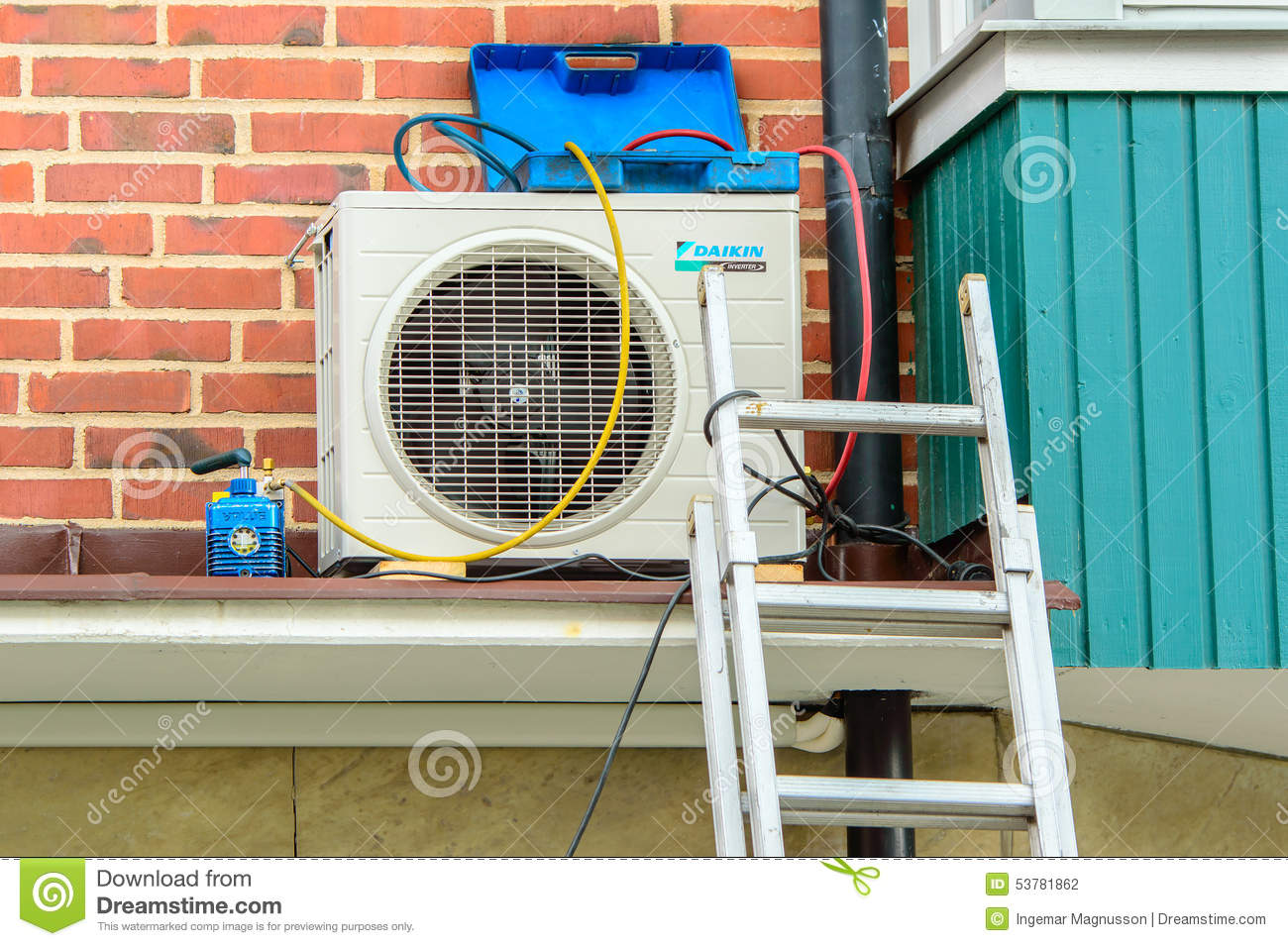 How To Service An Air Conditioner Air Conditioner Service Editorial Photography Image 53781862