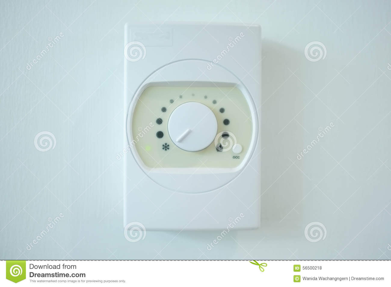 Air Conditioner Temperature Control Switch On The Wall