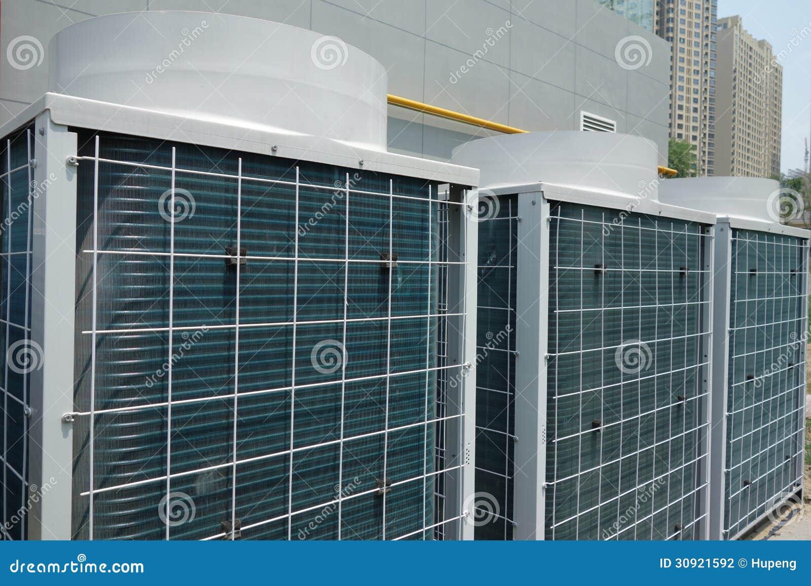 Air Conditioner Condenser Units : Air conditioner unit stock photography image