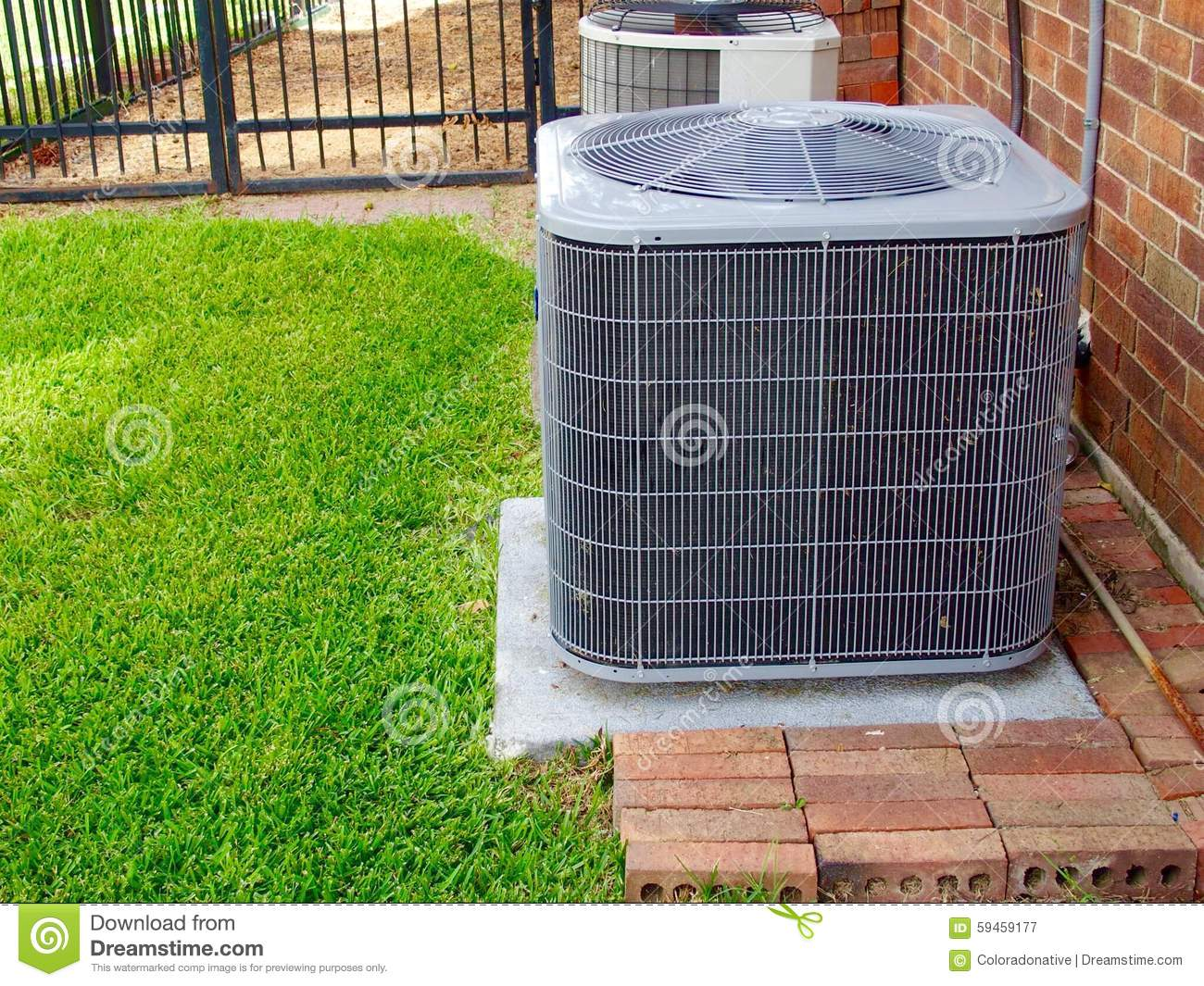 Air conditioner unit stock photo image 59459177 for Air conditioner pad concrete