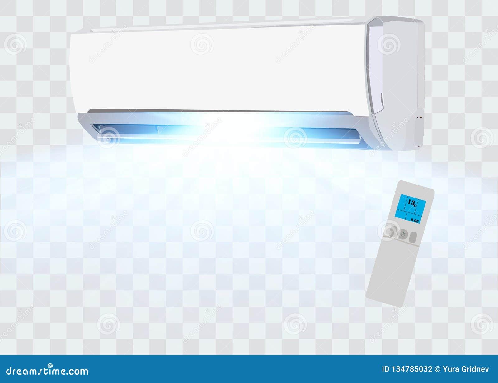 Air Conditioner Vector Background Split System
