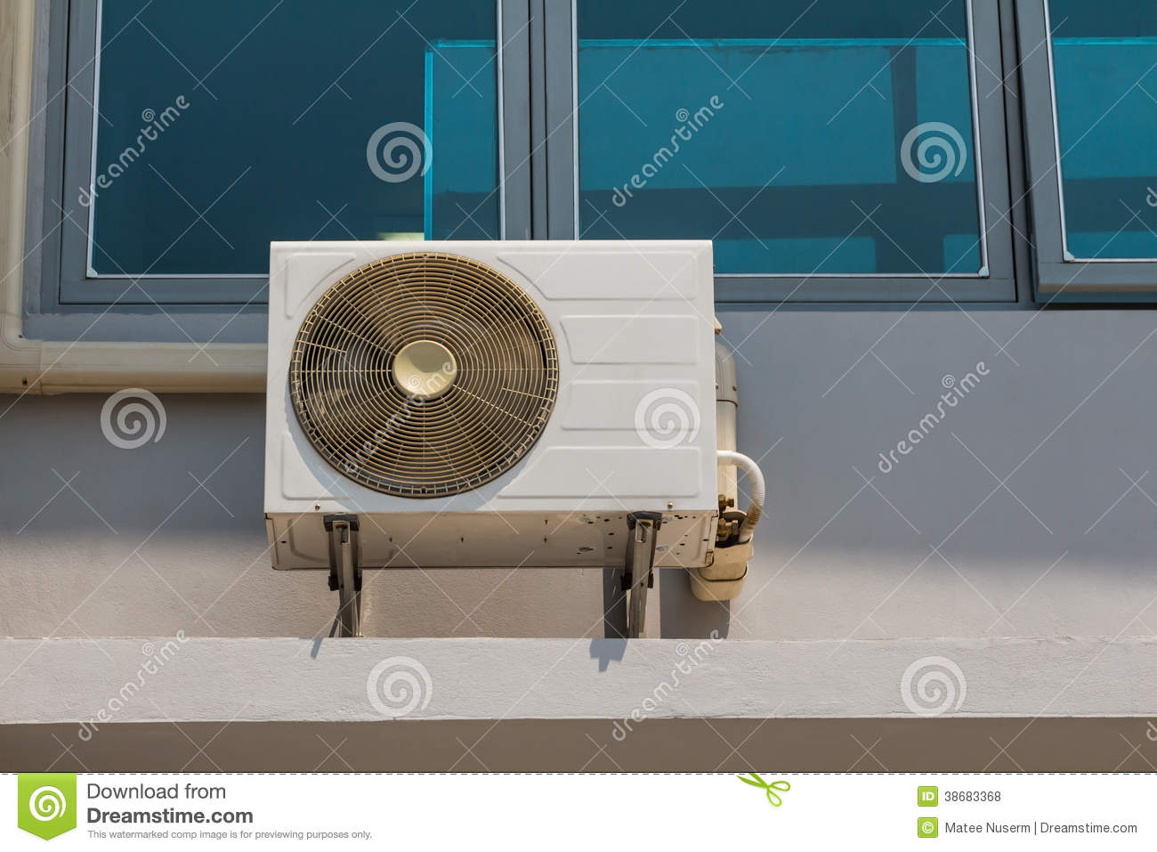 Wall mounted fan coil unit of air conditioner installing outside of  #286679