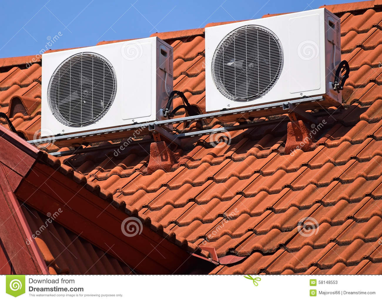 Air Conditioners On The Roof Stock Photo Cartoondealer