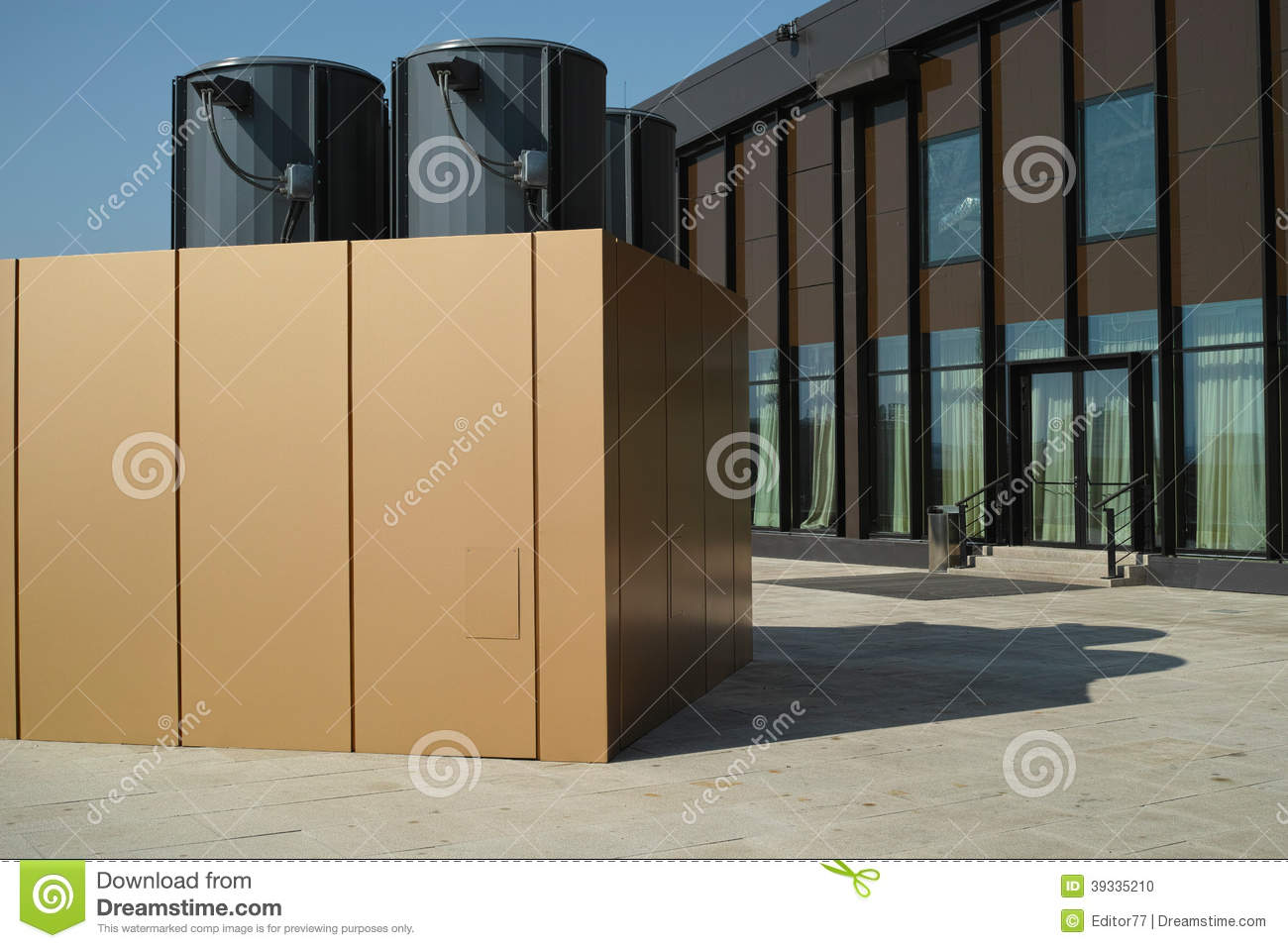 Air Conditioning On The Building Roof Stock Photo Image Of