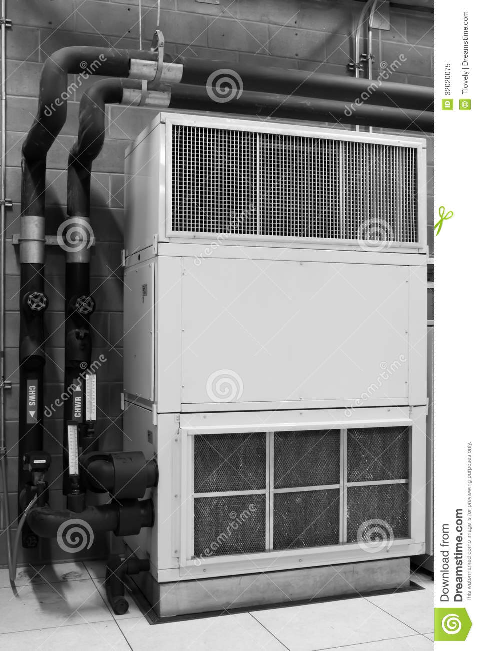 Construction Air Conditioner : Air conditioning stock image of metal assembly