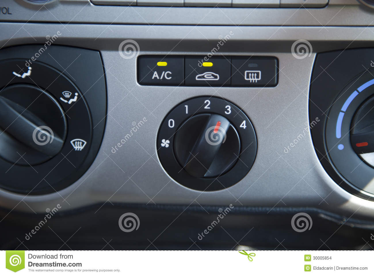 car air conditioning control panel stock photo image