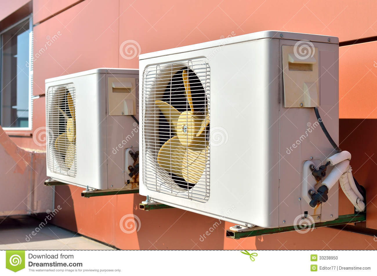 Air Conditioning Devices On The Wall Stock Photo Image: 33238950 #A84323