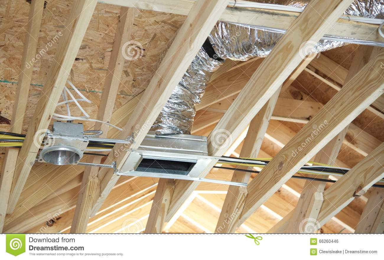 Air Conditioning And Heating Duct Open Stock Photo