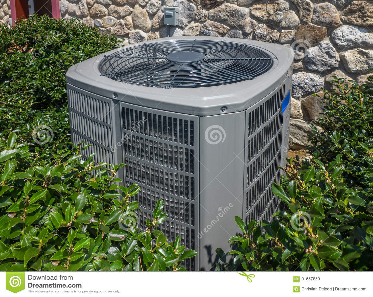 Heating And Air : Air conditioning and heating unit for a residential house