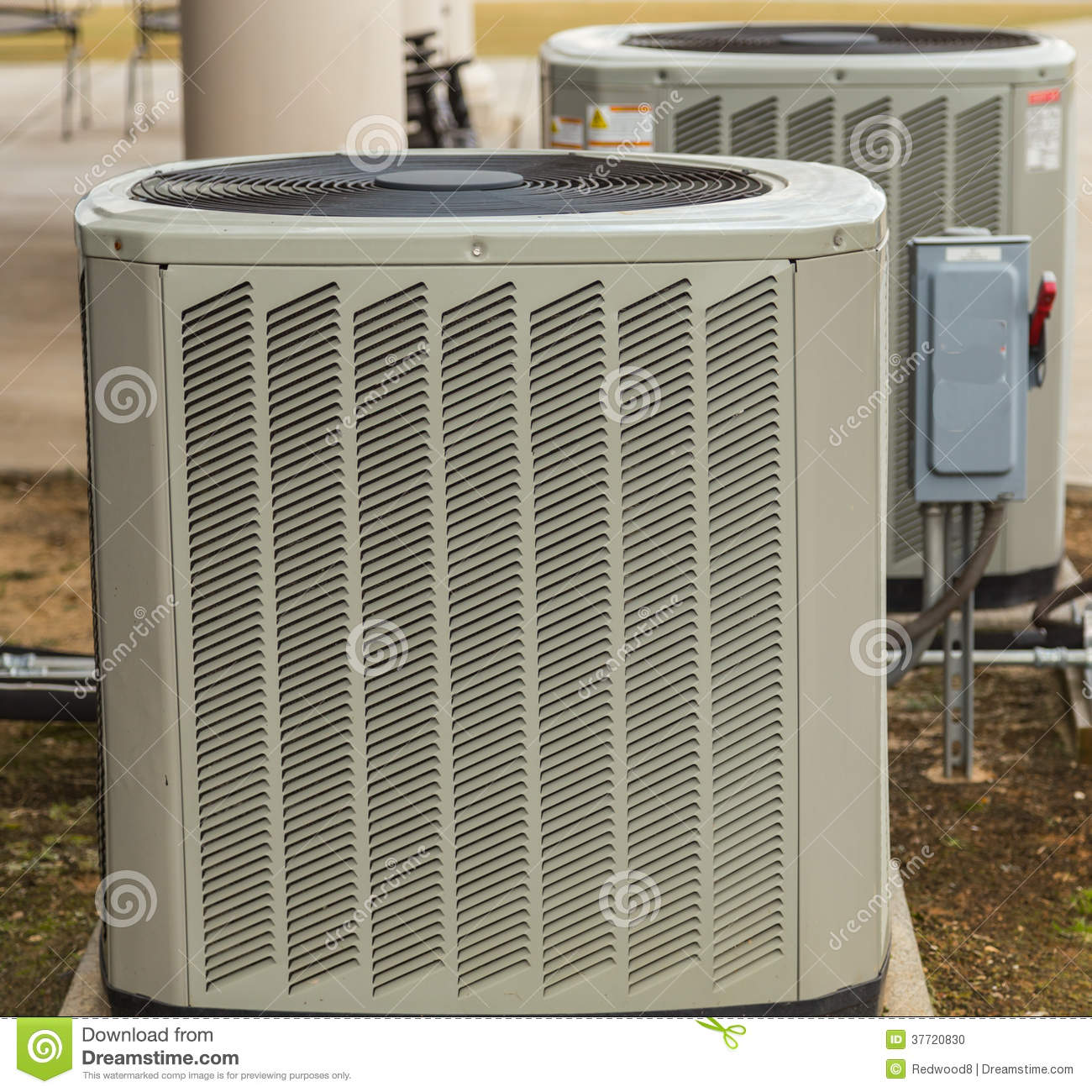 Air Conditioning Outside Umit Stock Image
