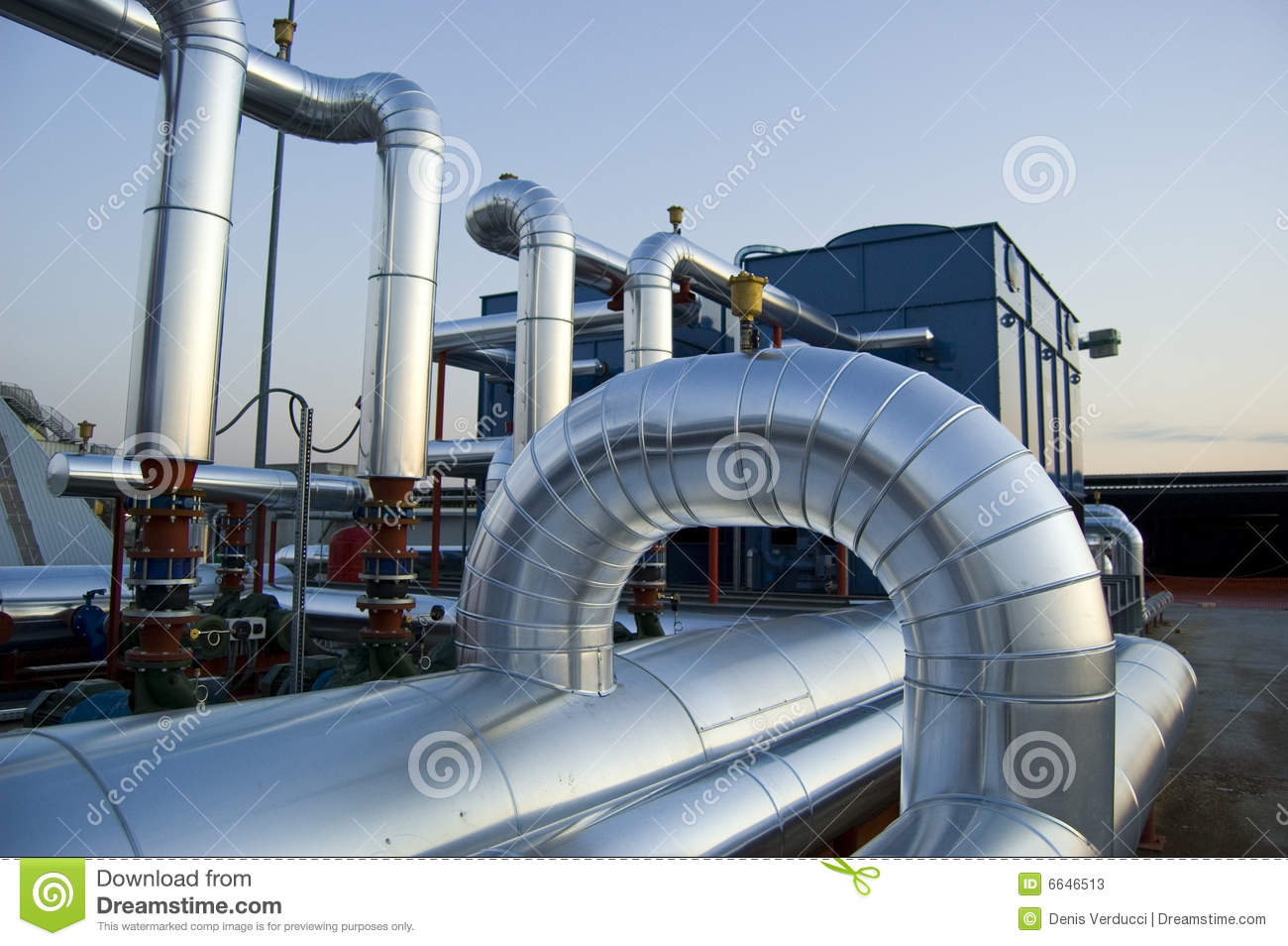 Air Conditioning Plant Stock Image Image Of Pump Blue