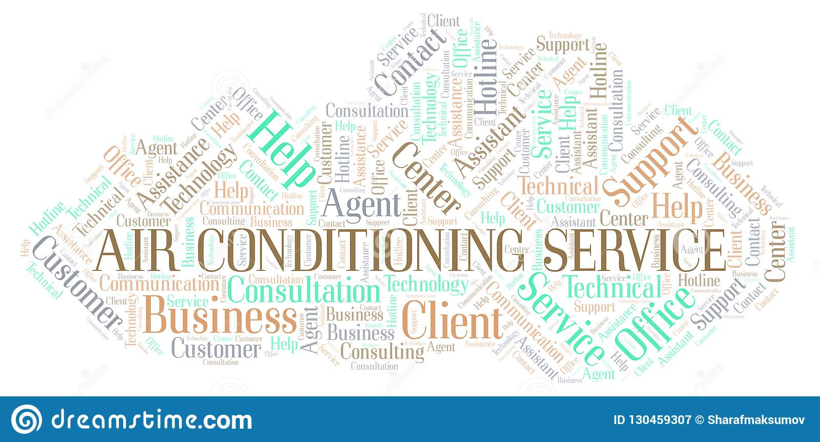 Air Conditioning Service Word Cloud  Stock Illustration