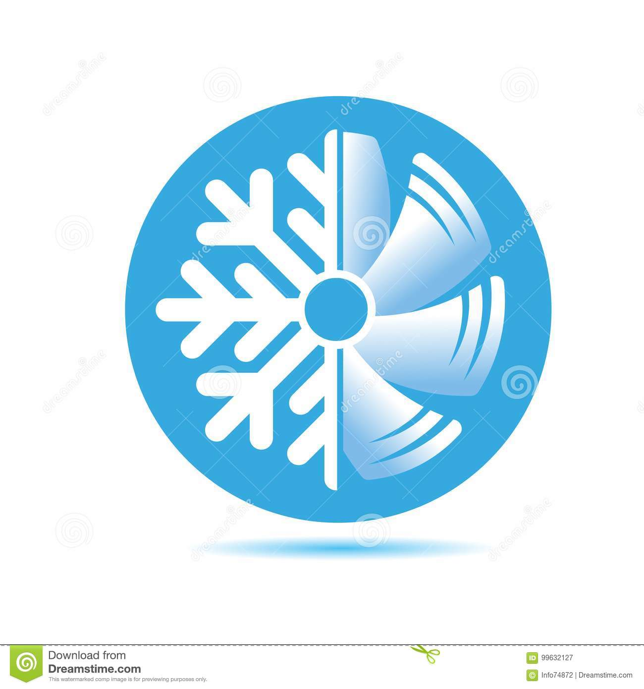 air conditioner icon  flat design stock vector