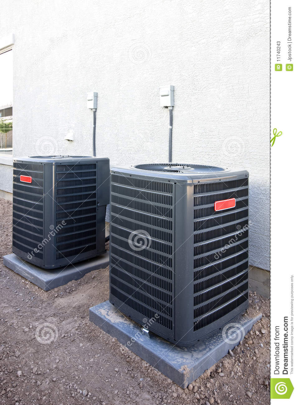 Air conditioning units stock photos image 11740243 for Outdoor ac unit pad