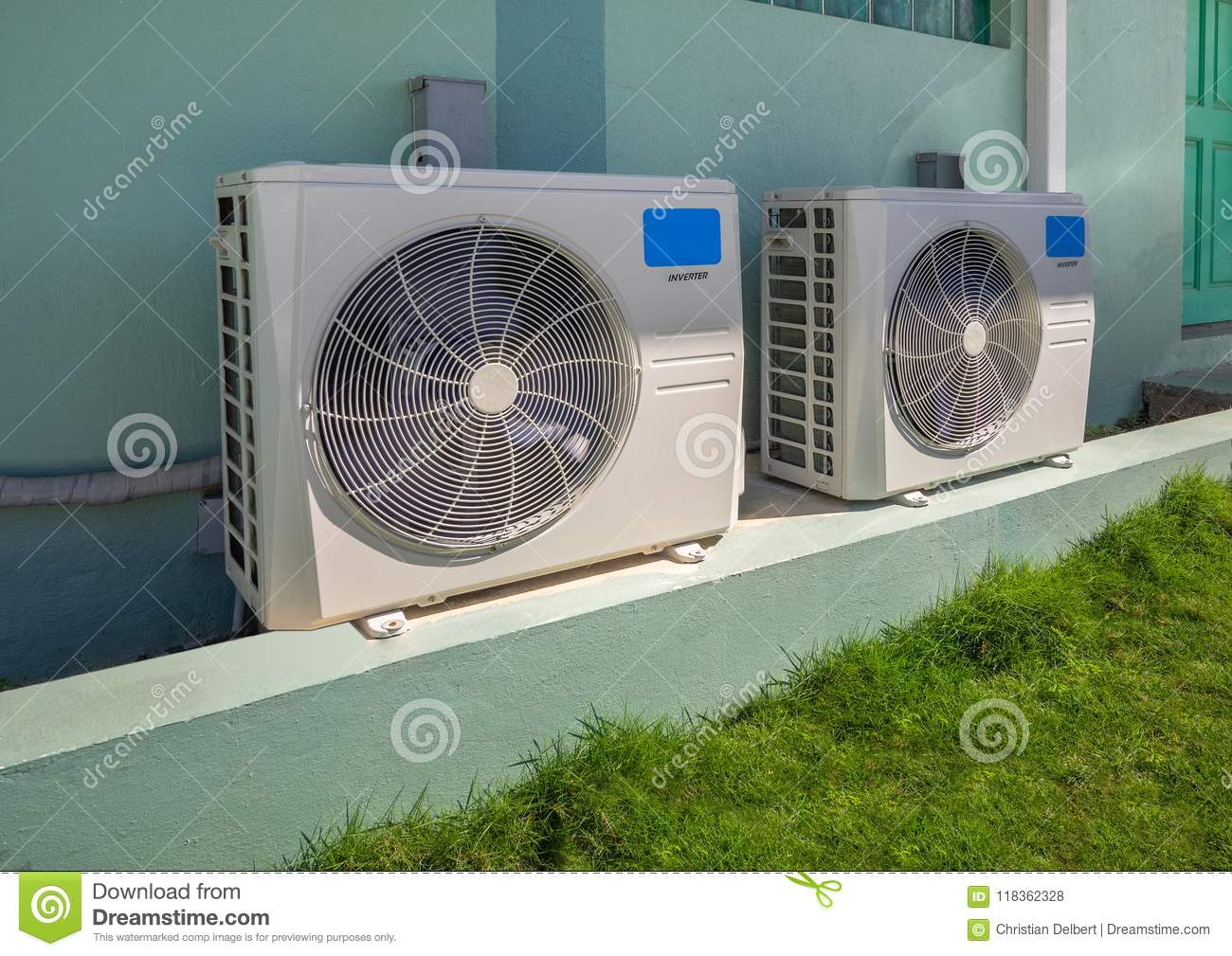 ac heater unit air conditioning air conditioning units outside an apartment complex conditioning units outside an apartment complex stock photo