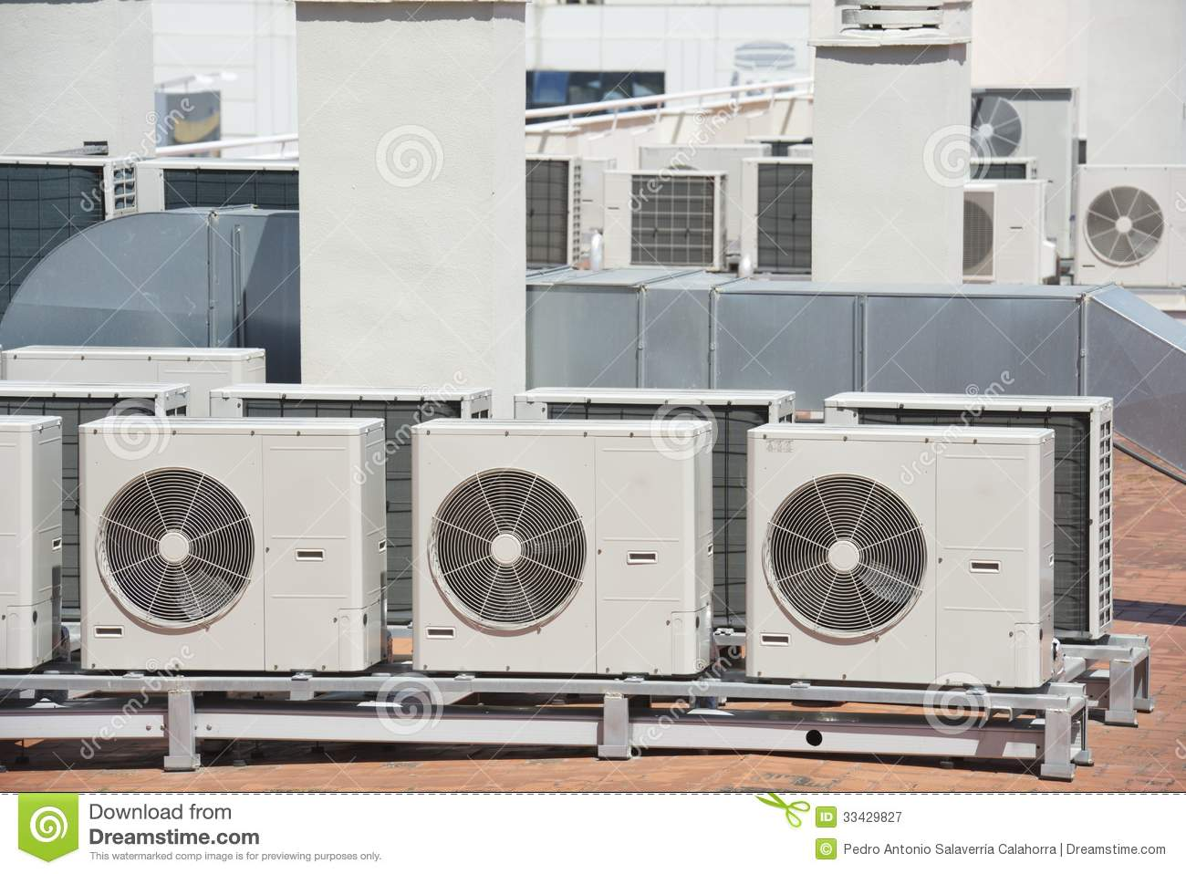 air conditioning view roof building large equipment 33429827.jpg #865C45