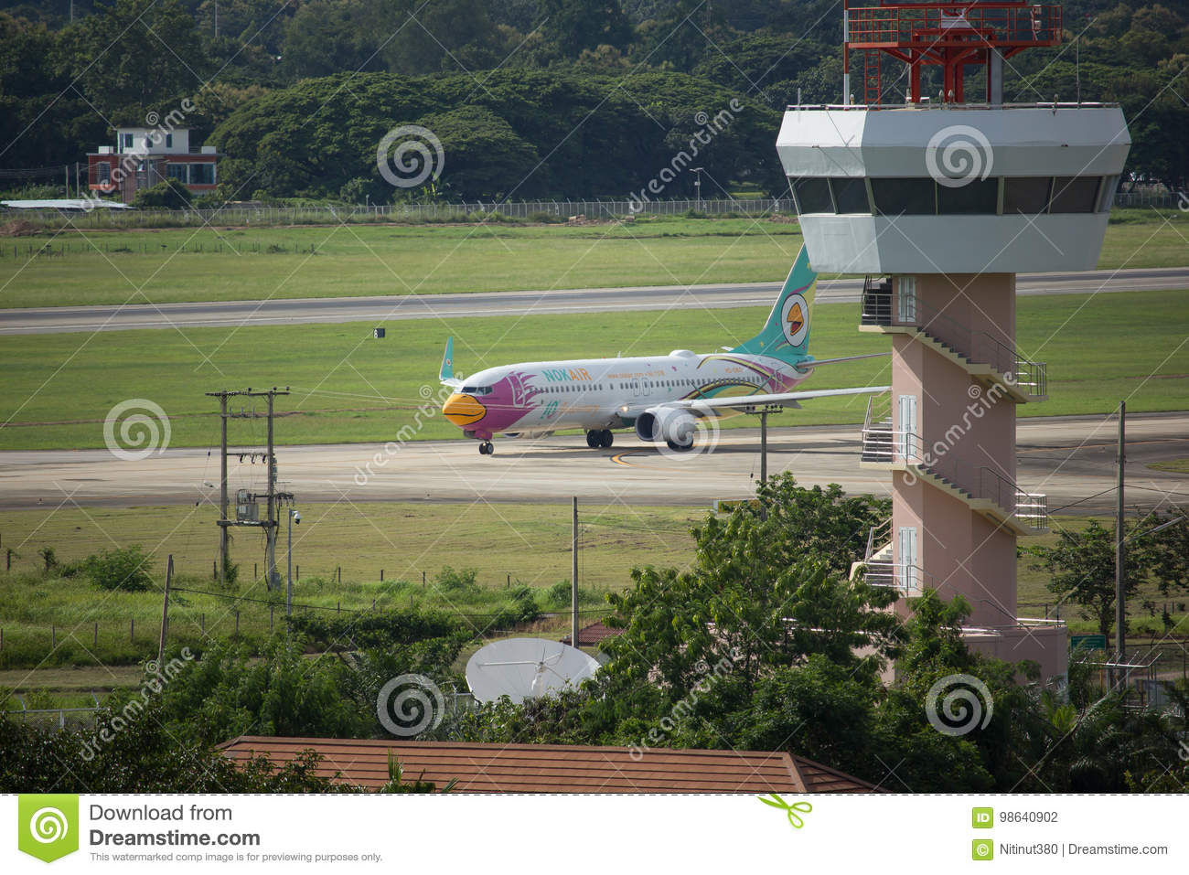 Air Control Tower Of Chiangmai International Airport  Editorial
