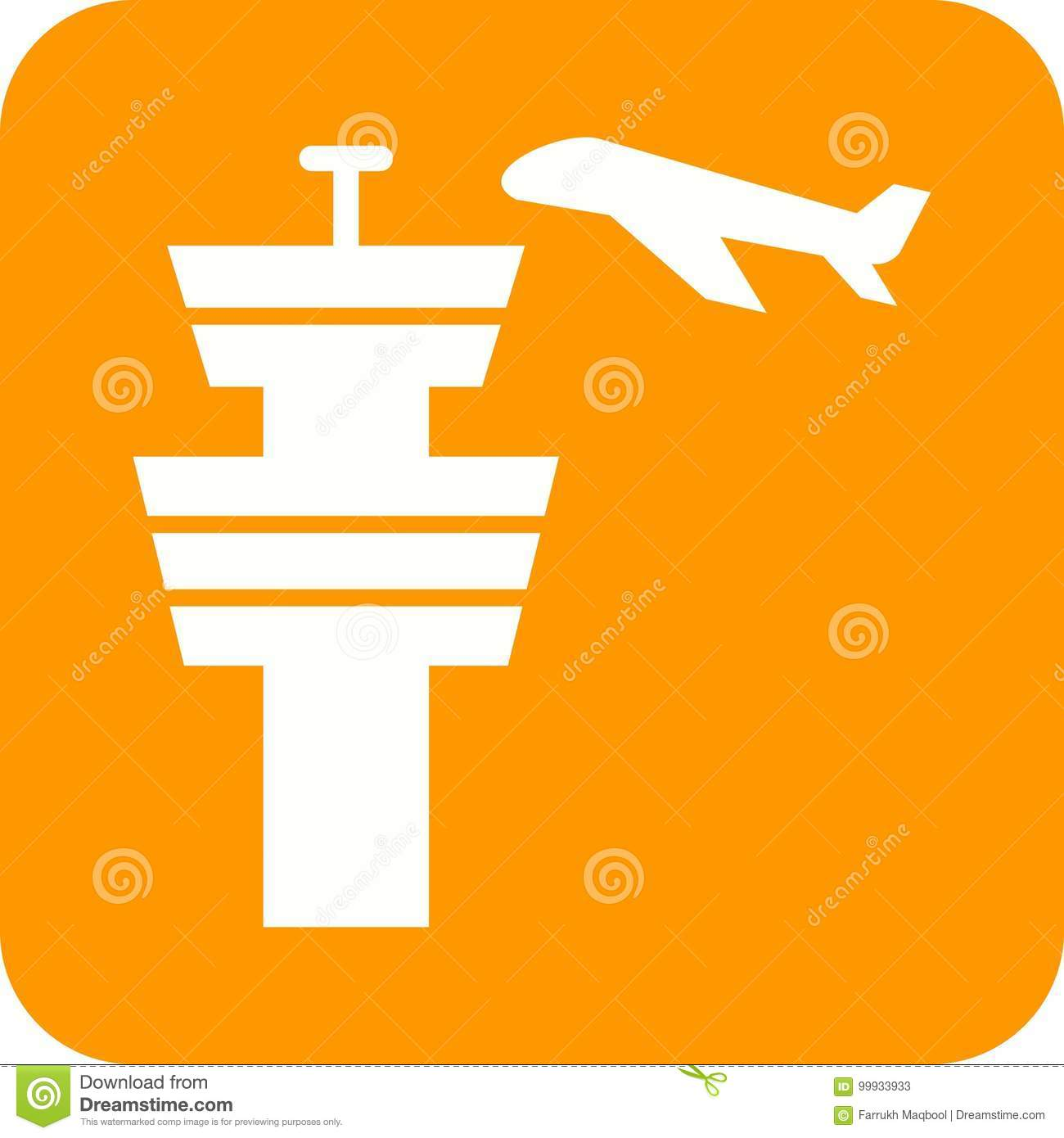 Air Control Tower stock vector  Illustration of communication - 99933933