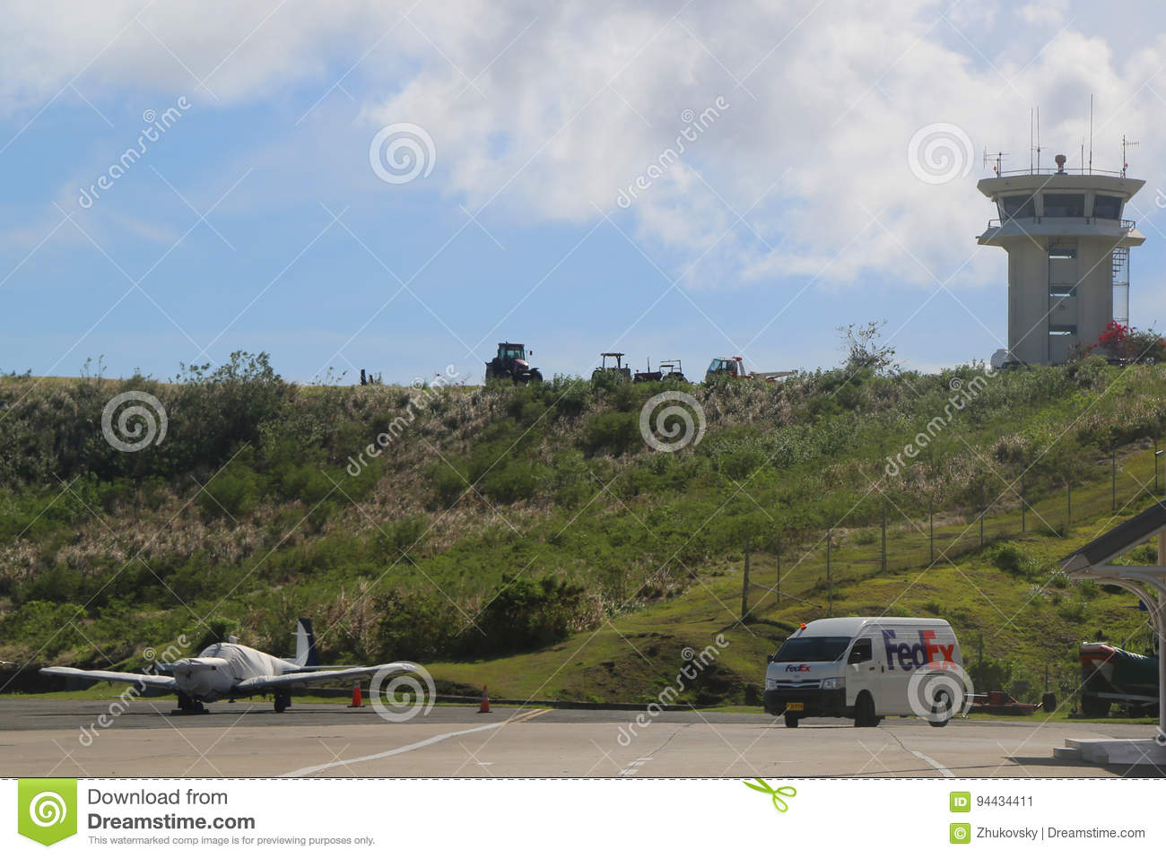 Air Control Tower At Maurice Bishop International Airport In Grenada