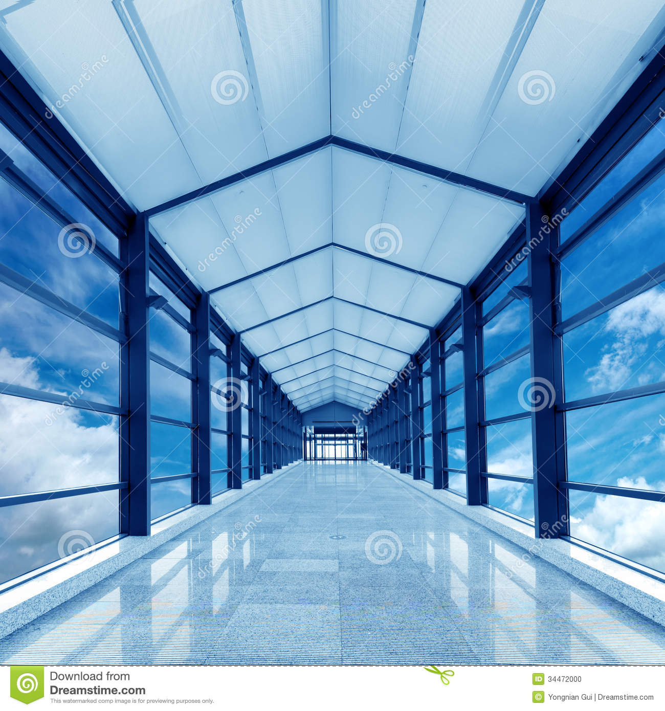 Air Corridor Stock Photo Image Of Hall Frame Modern