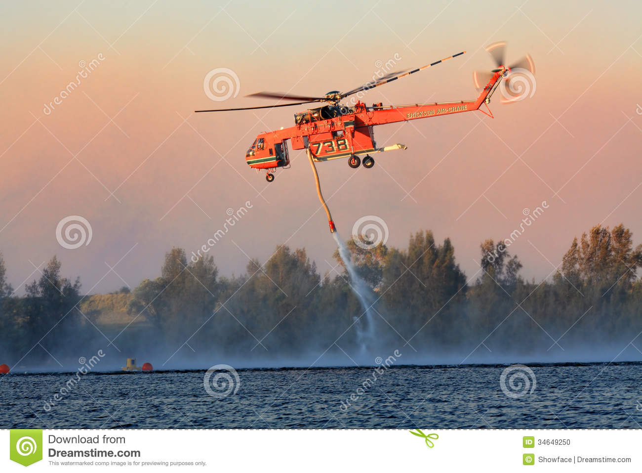 Air Crane Fighting Bush Fires Editorial Image Image