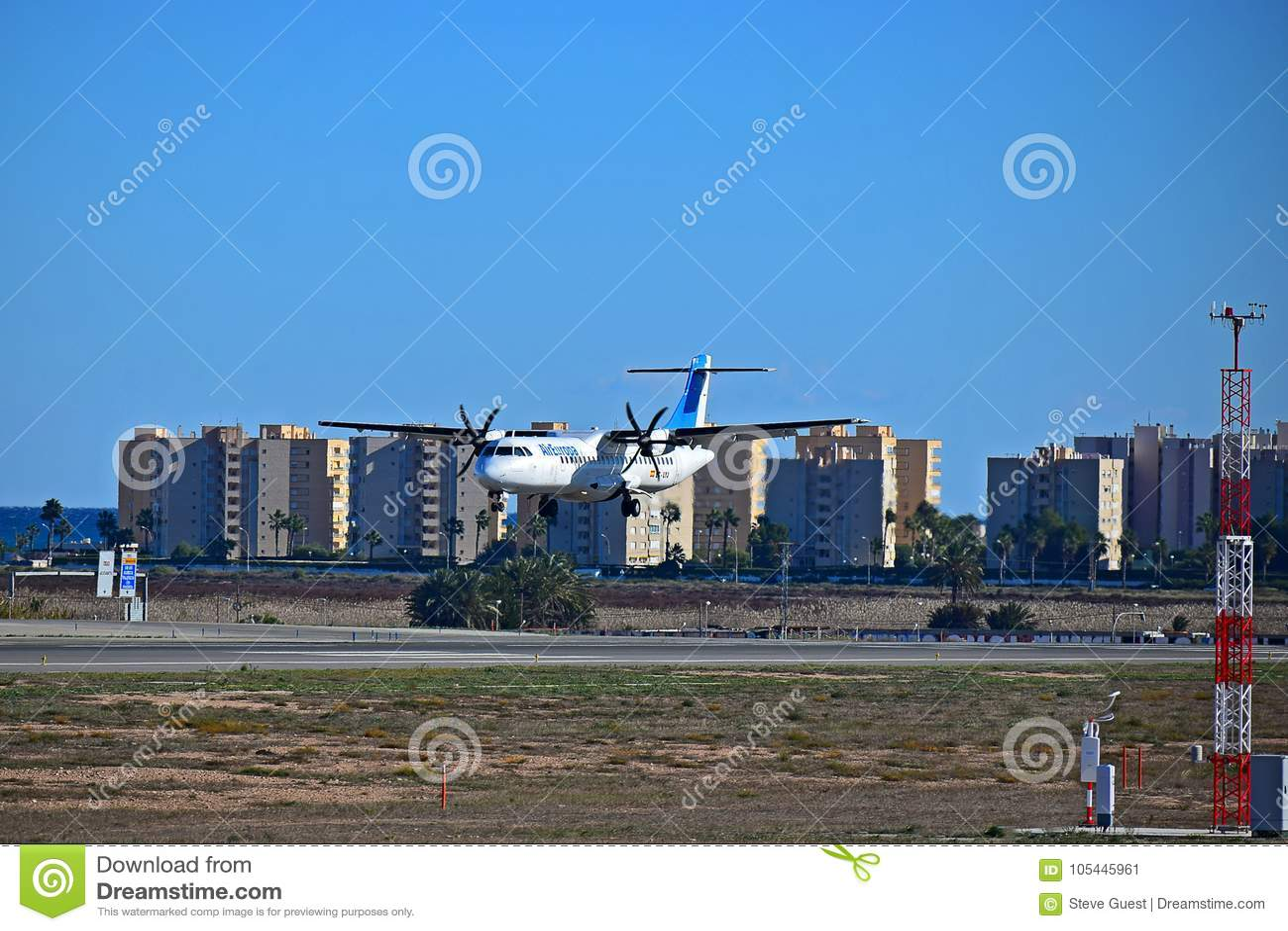 Air Europa Passenger Plane Landing At Alicante Airport