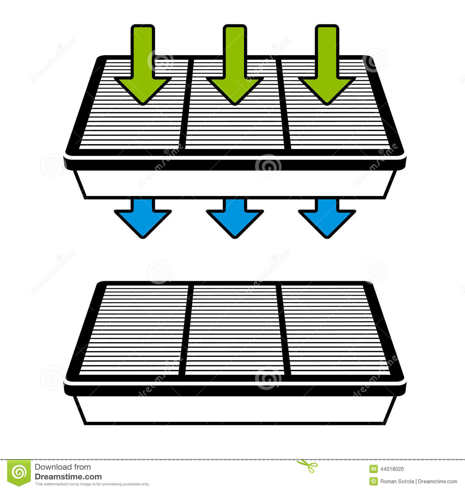 Air Filter Flow Symbols Stock Vector Illustration Of Cleaner 44018020