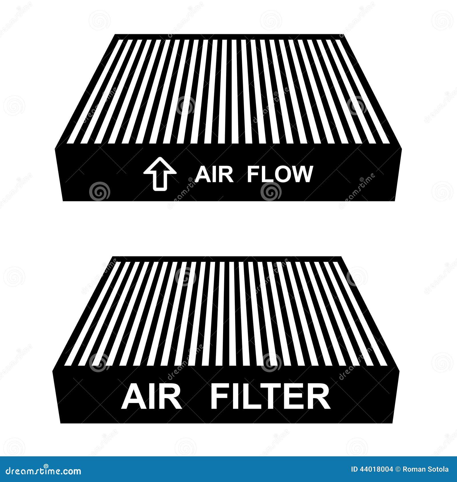 Air Filter Symbols Stock Vector Illustration Of Element 44018004