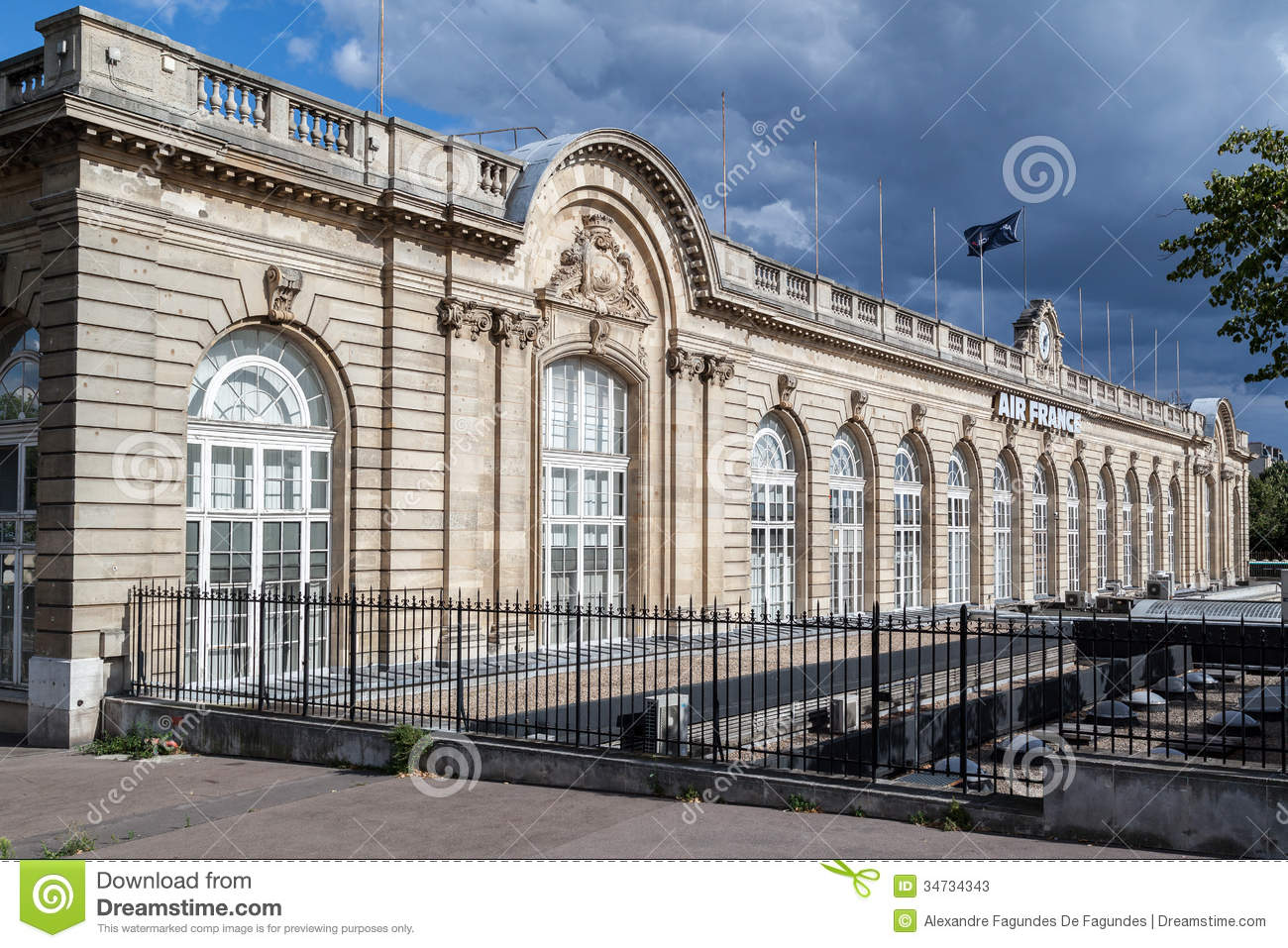 air france building paris france editorial stock photo image 34734343. Black Bedroom Furniture Sets. Home Design Ideas