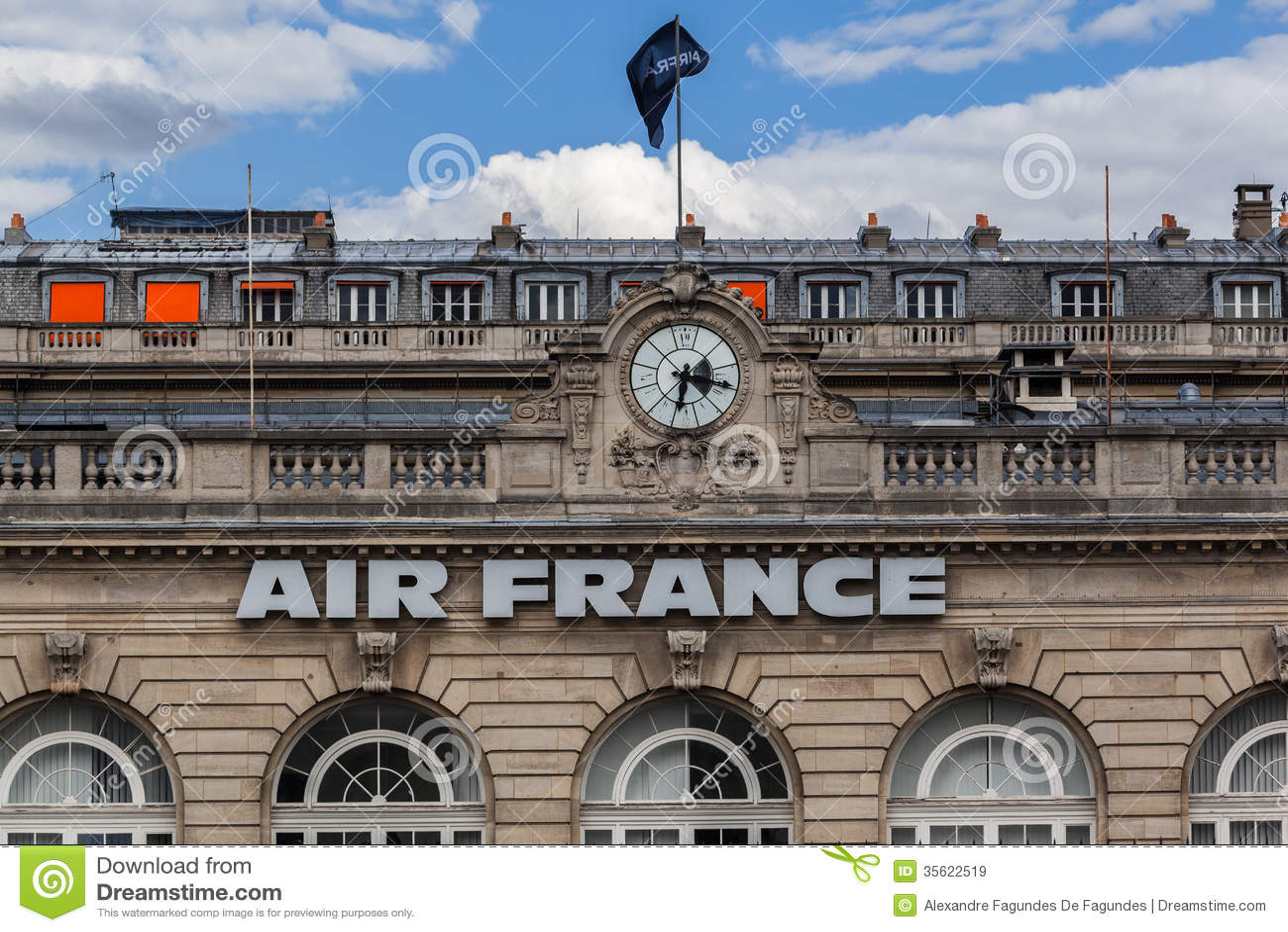 air france building paris france editorial stock image image 35622519. Black Bedroom Furniture Sets. Home Design Ideas