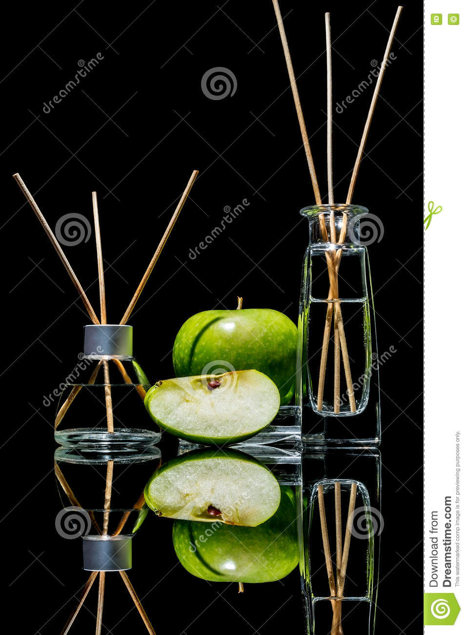 Air Fresheners In A Glass Jars With Sticks And Lemon