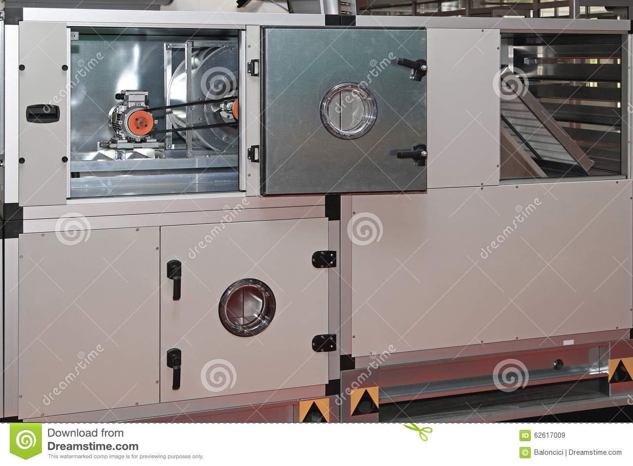 Central Ventilation System : Air handling unit stock photo image