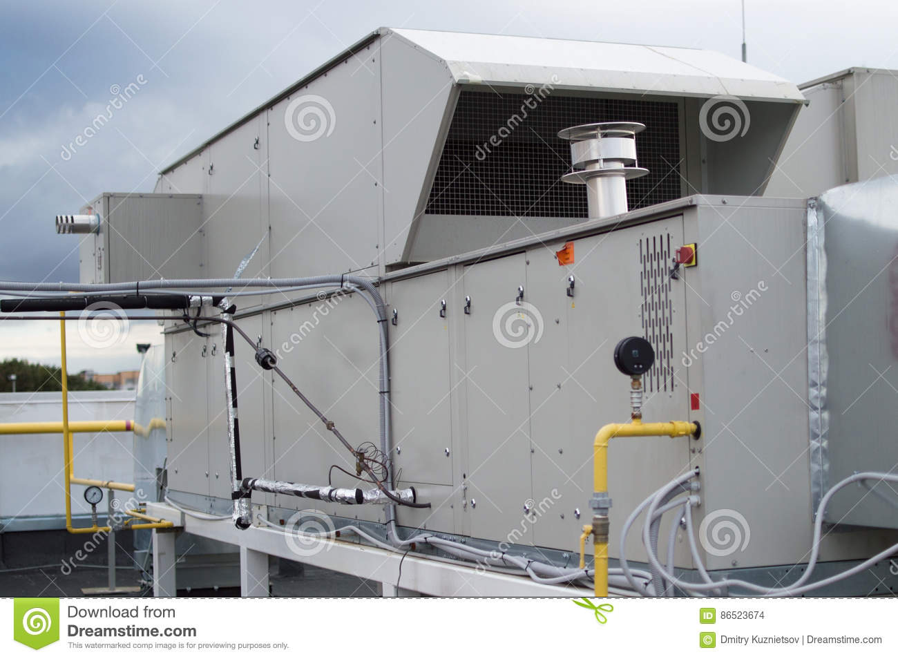 Air Handling Unit For The Central Ventilation System Stock