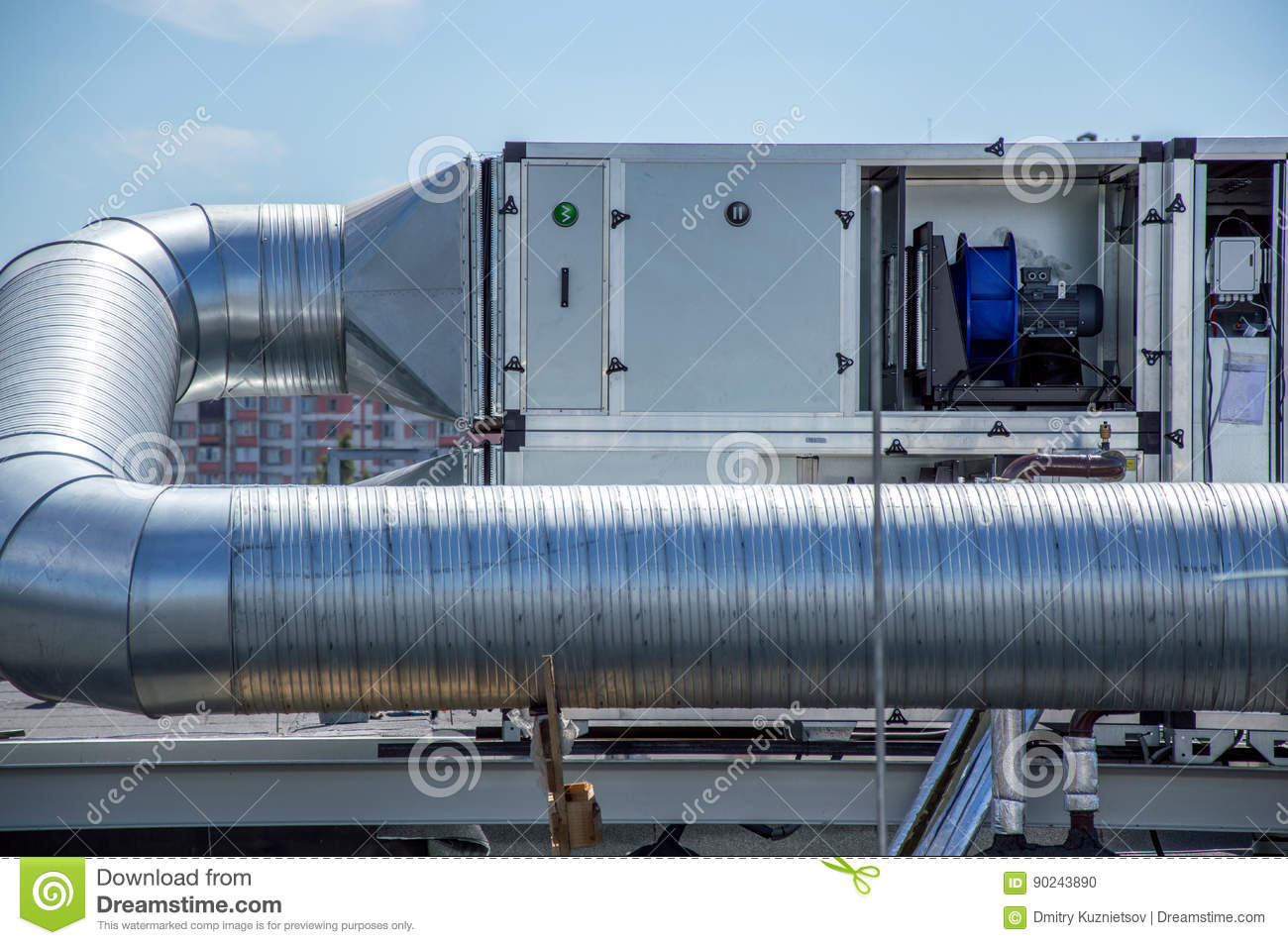 Air Handling Unit For The Central Ventilation System On