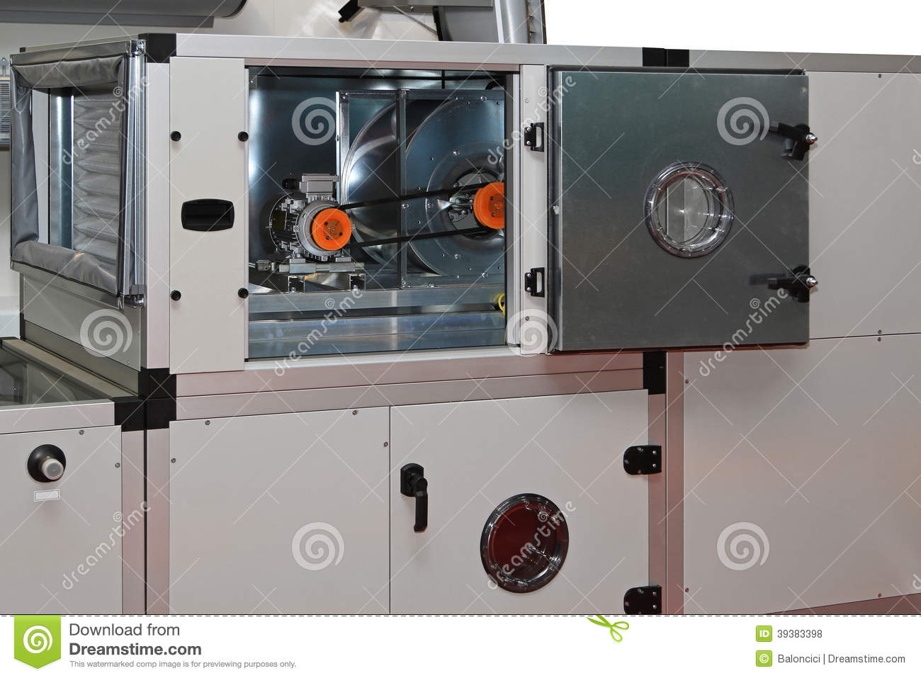 Central Ventilation System : Air handling units stock photos royalty free pictures