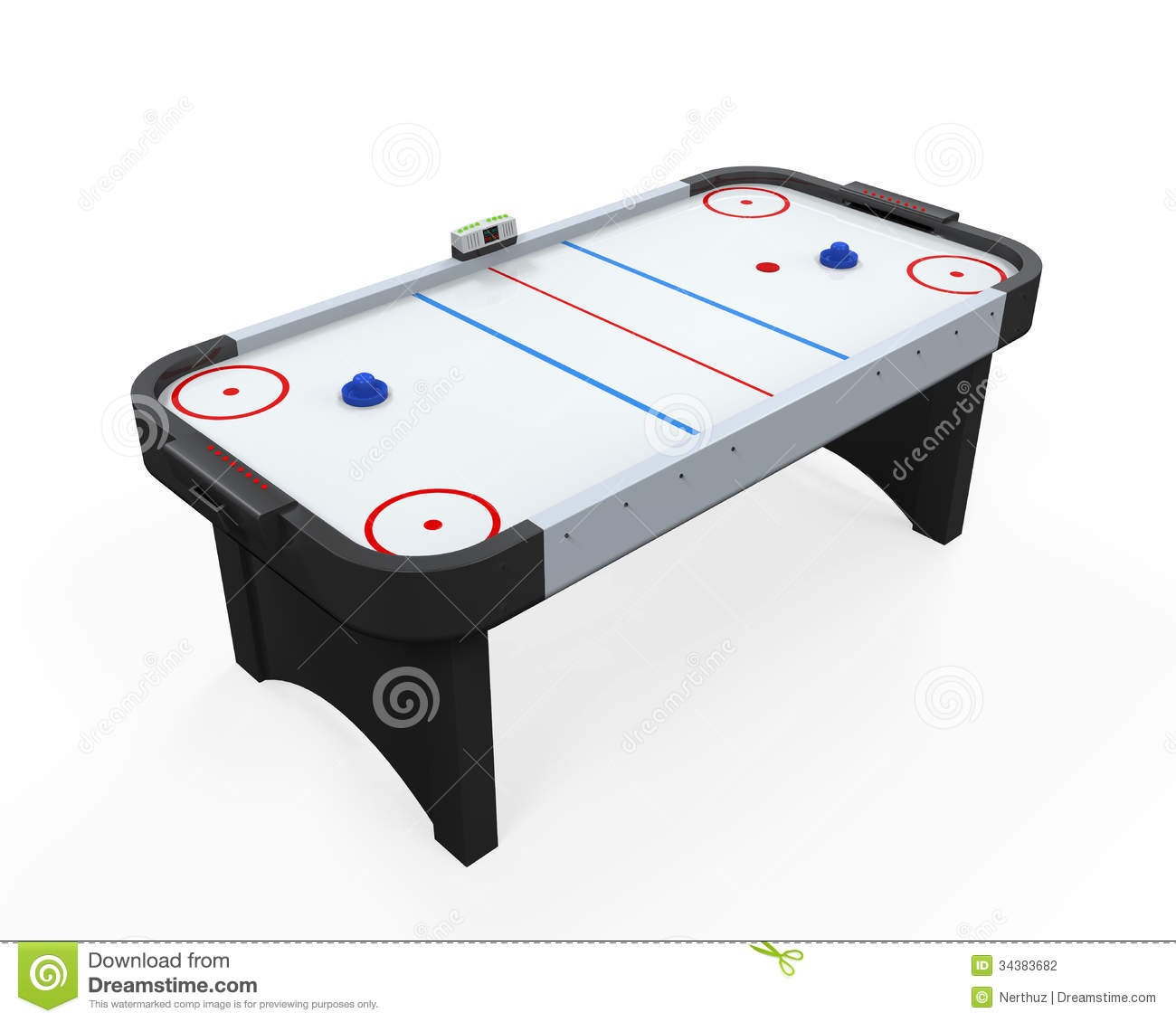 Air Hockey Table Isolated Stock Photography - Image: 34383682
