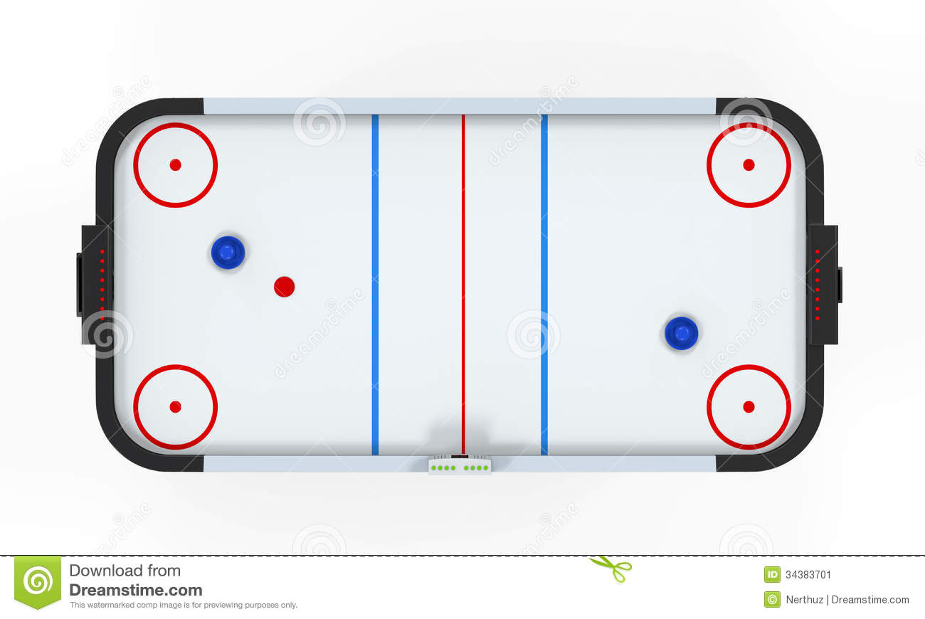 Ordinaire Air Hockey Table Isolated. On White Background. 3D Render Vector  Illustration