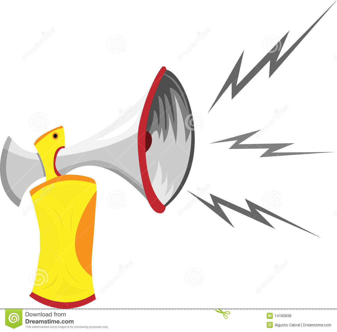 Air Horn Cartoon Royalty Free Stock Photos - Image: 14190838
