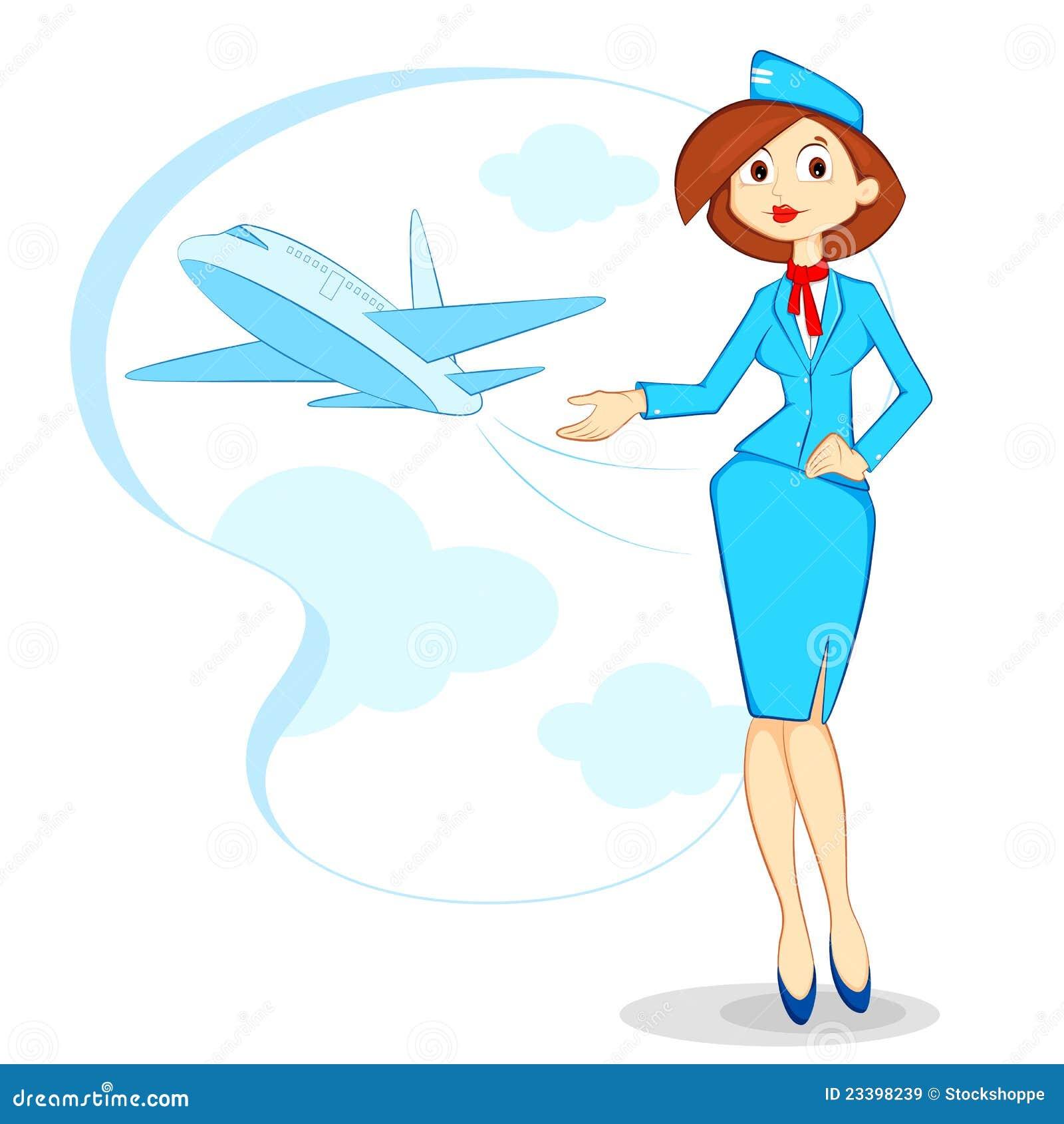 Air Hostess Stock Vector Illustration Of Female