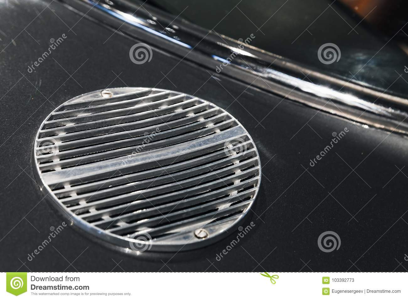 Air Intake Grille. Luxury Vintage Car Parts Stock Image - Image of ...