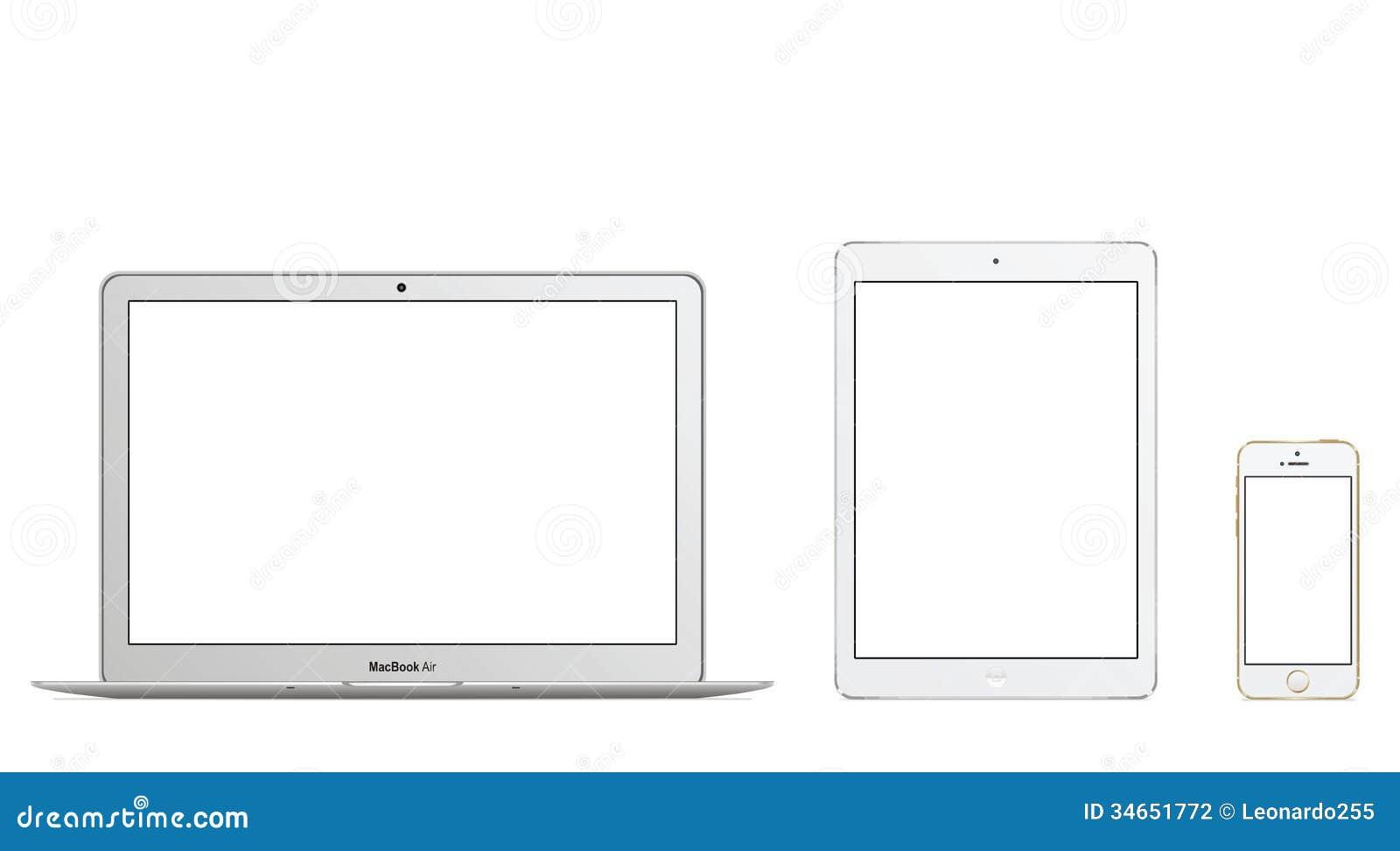 Air Iphone 5s d Ipad d air de MacBook