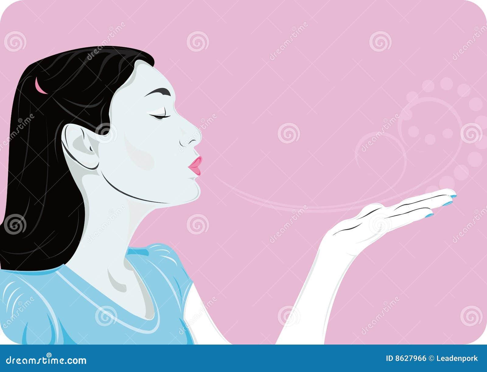 Air Kiss Royalty Free Stock Image - Image: 8627966