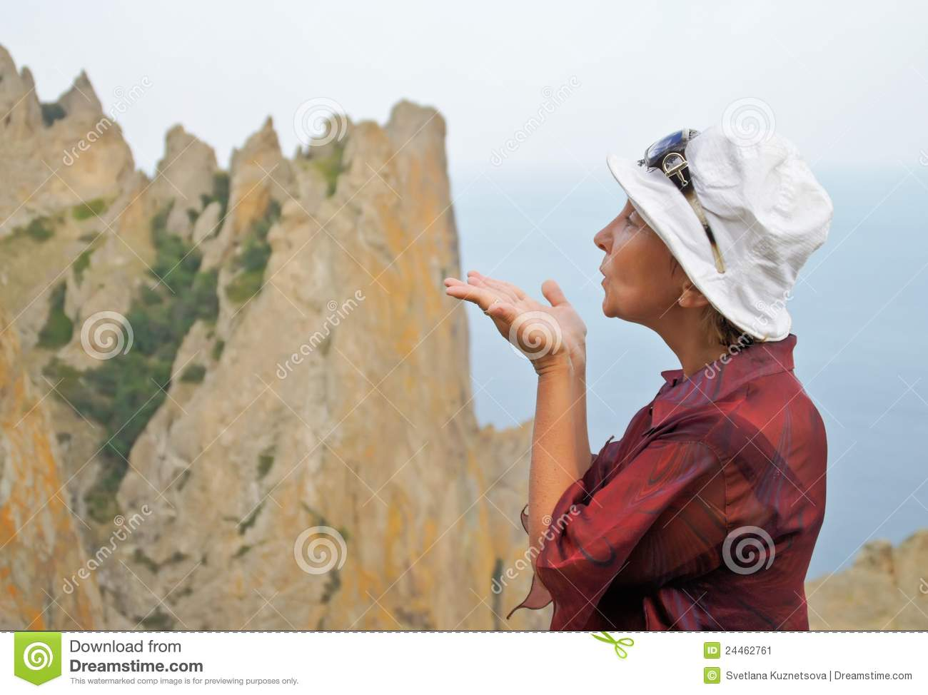 Air Kiss To Mountains Stock Image - Image: 24462761