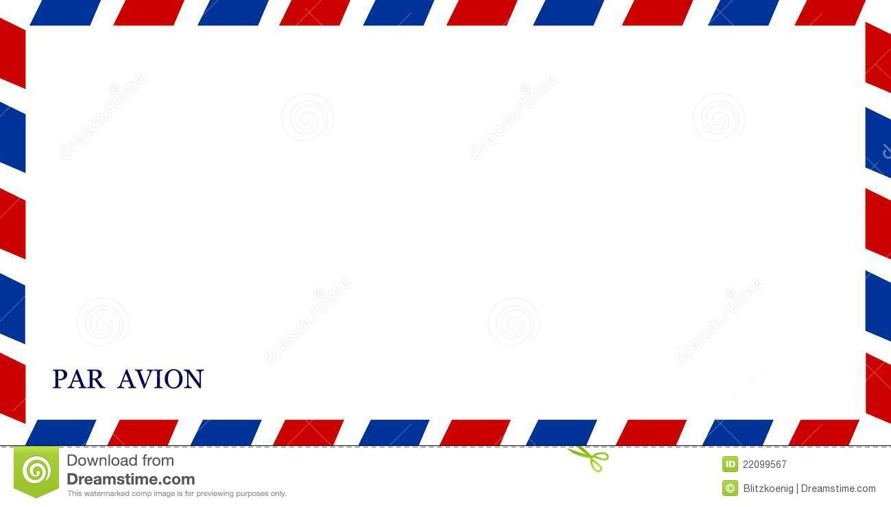Regular Air-mail small size envelope isolated on white background.