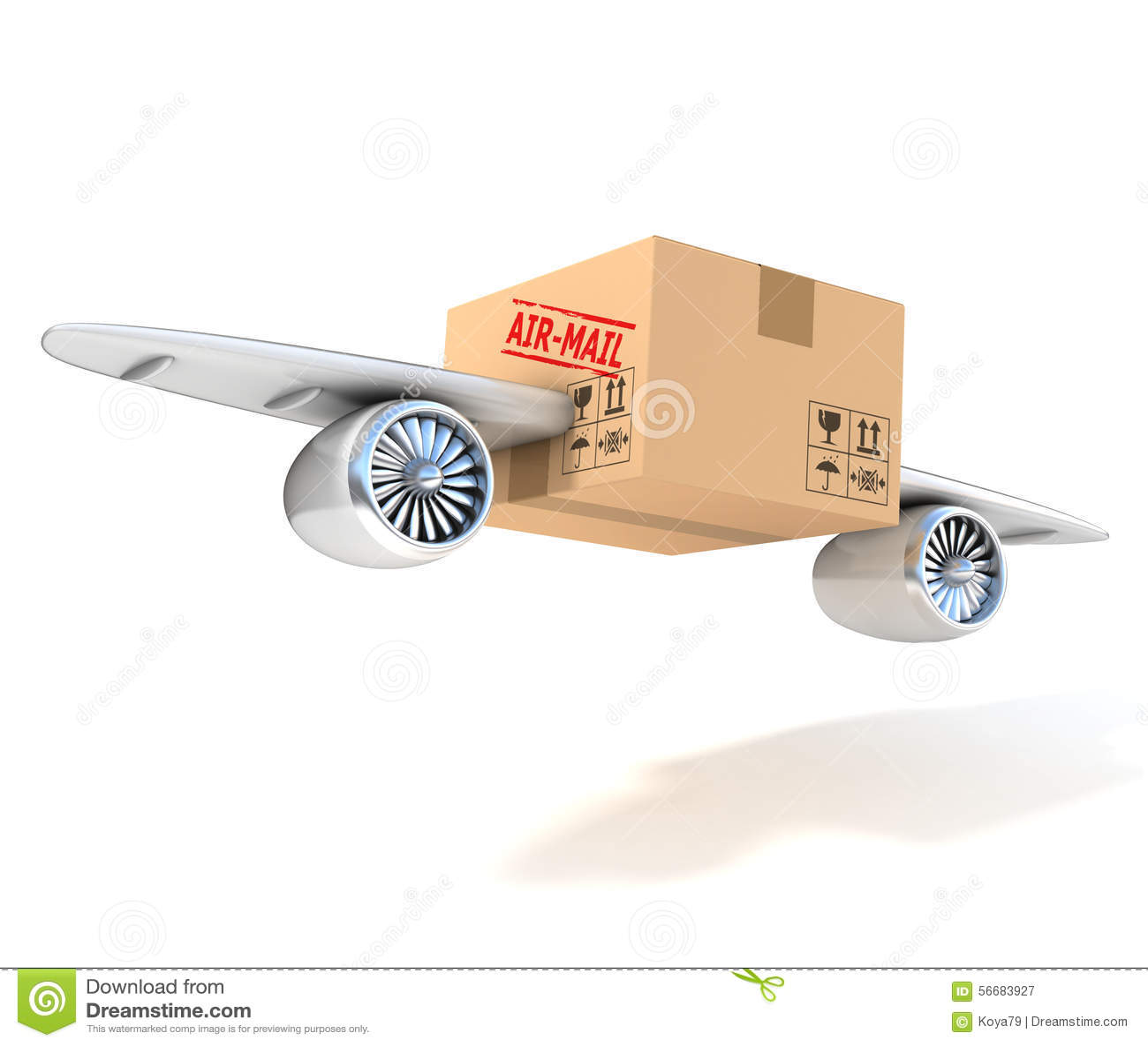 Air mail 3d concept