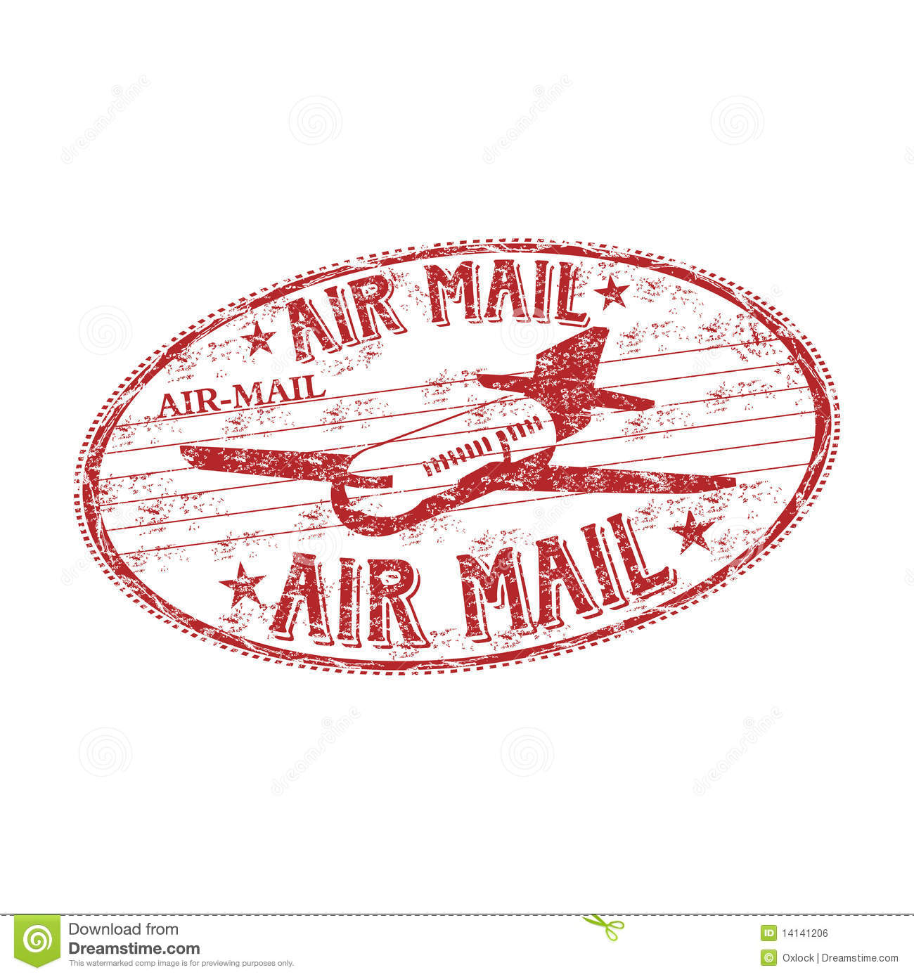 Air Mail Rubber Stamp Stock Vector. Illustration Of