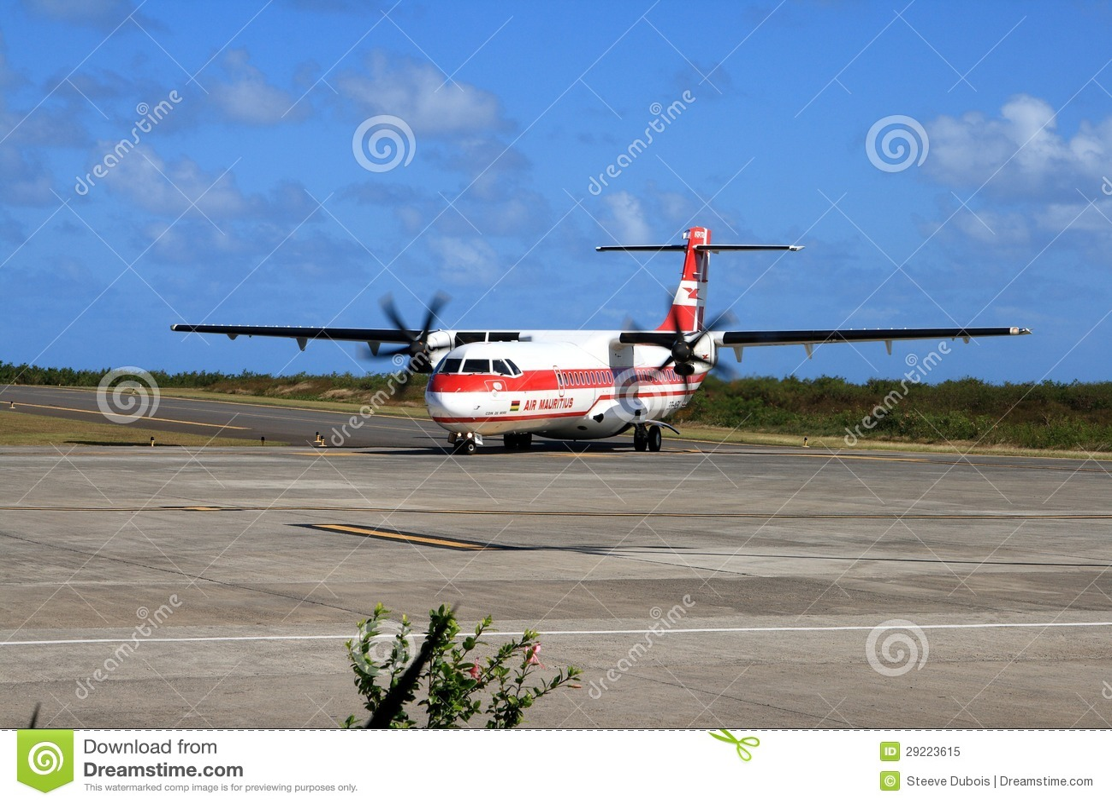 Air Mauritius ATR 72 plane on runway