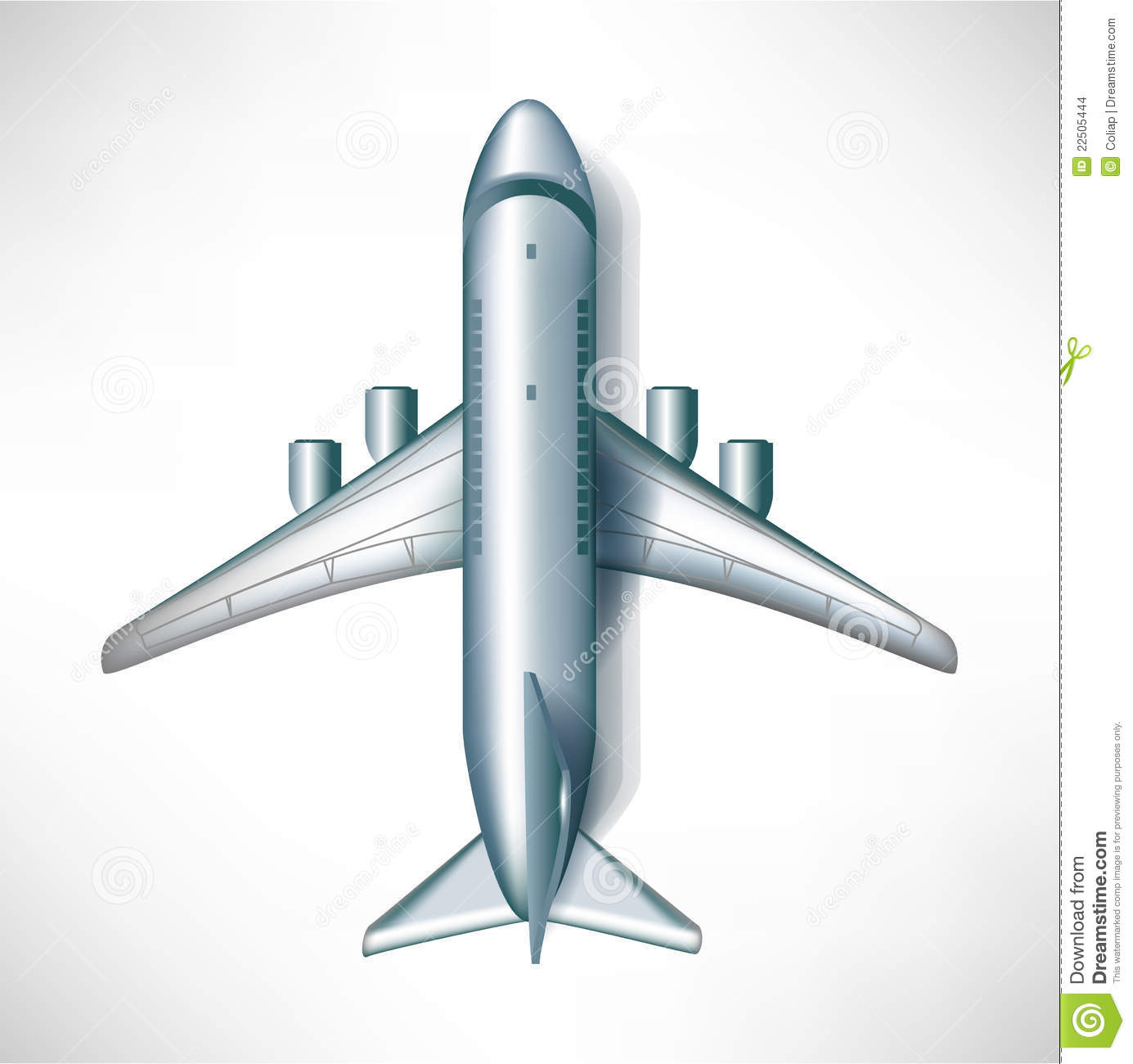 Air Plane Downward View Stock Images - Image: 22505444
