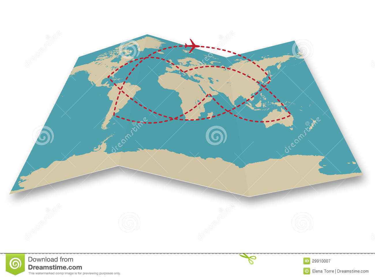 Travel World Map Stock Vector. Illustration Of Cartography